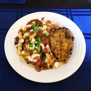 Club House Poutine Gravy and Quinoa Chicken